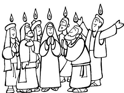 396x299 Coloring Pages Pentecost Number Pentecost Colouring Pages Vbs