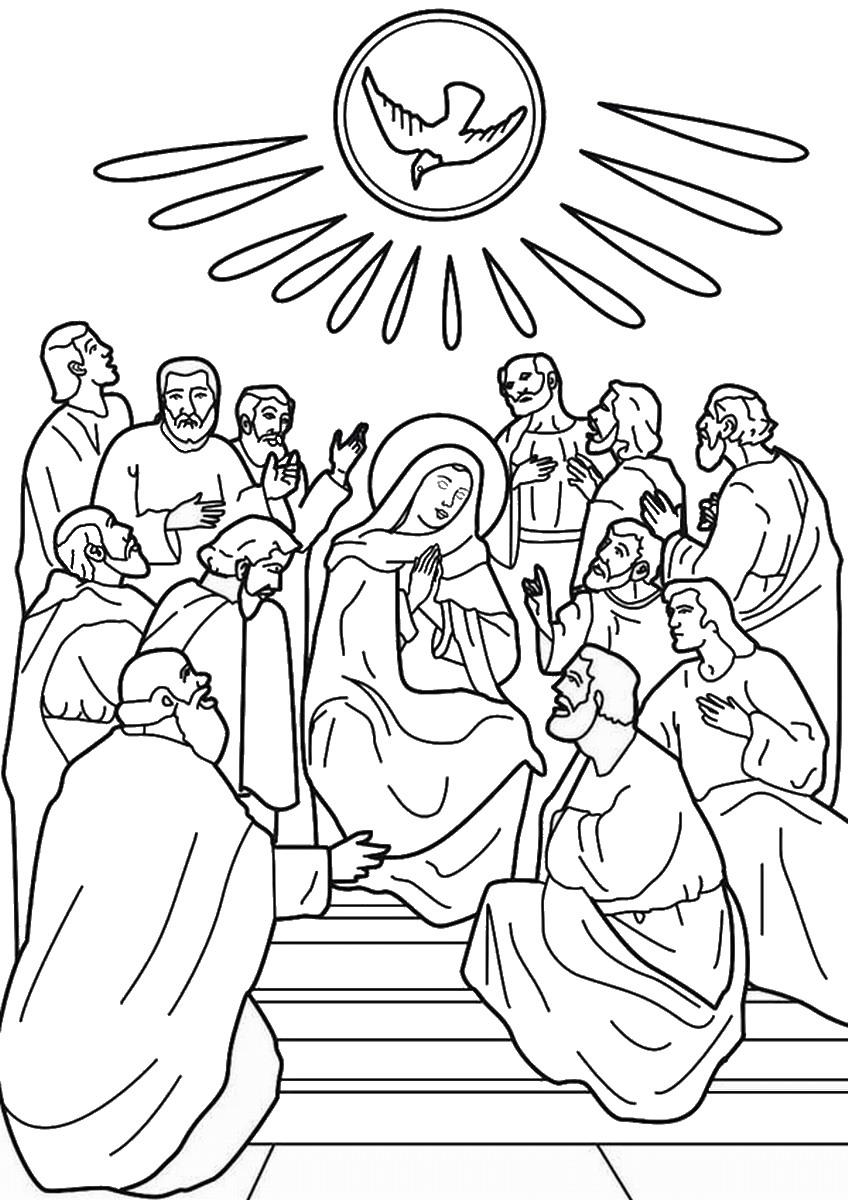848x1200 Pentecost Coloring