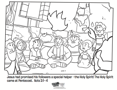 497x383 Pentecost Coloring Page Pentecost Coloring Page Whats In The Bible