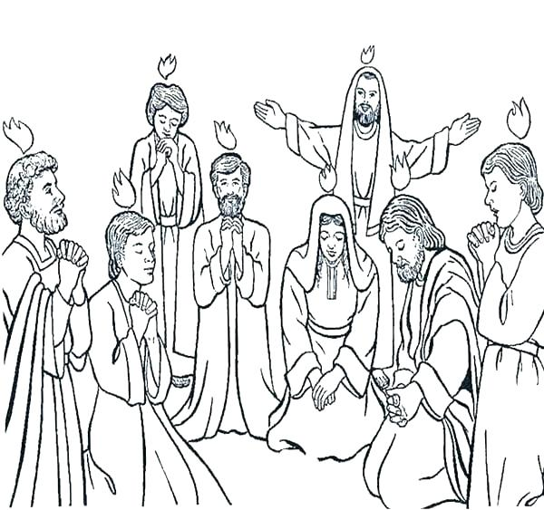 600x563 Pentecost Coloring Page