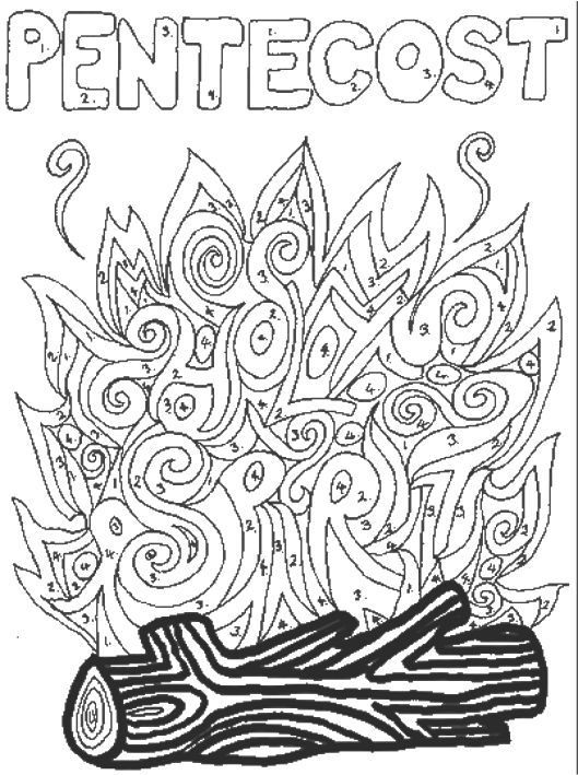 529x709 Pentecost Coloring Pages Ascension Day Sunday