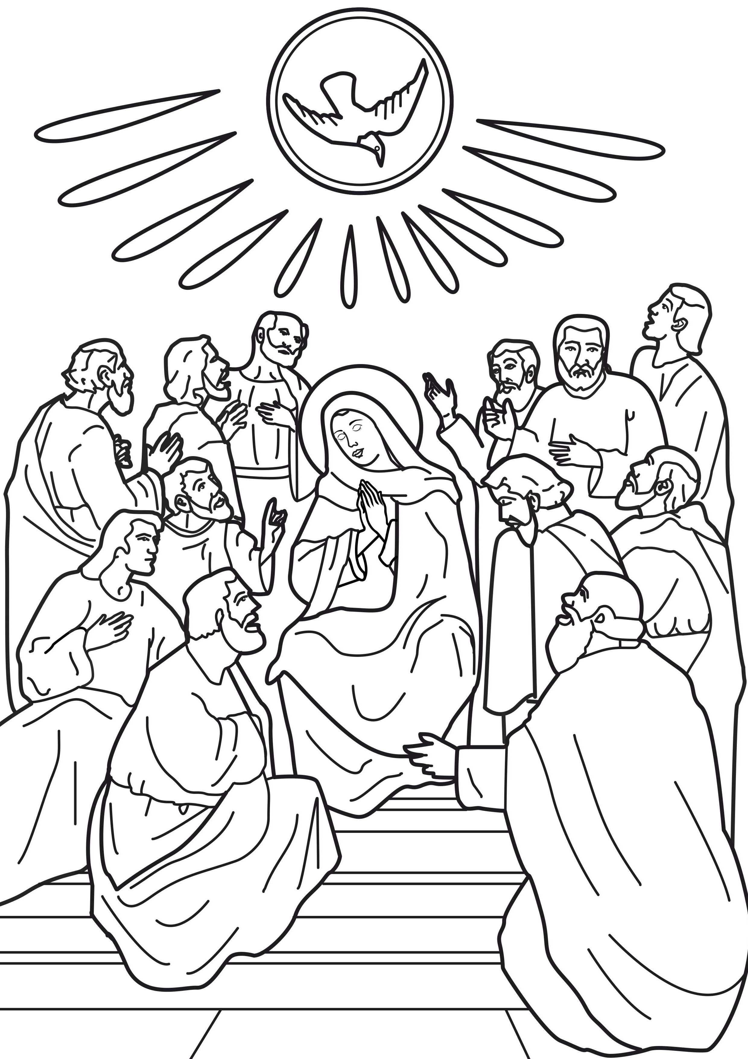 2480x3508 Day Of Pentecost Coloring Page Free Printable Pages