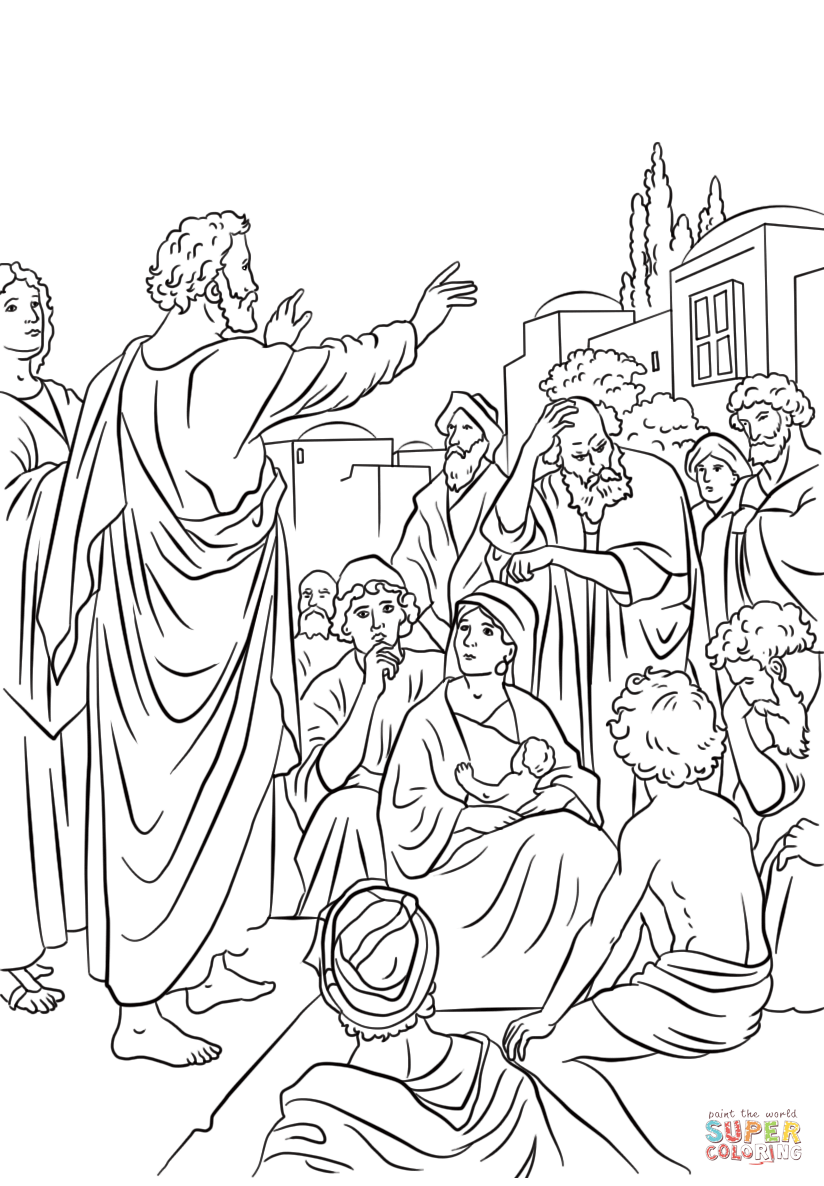 824x1186 Day Of Pentecost Coloring Page Free Printable Pages
