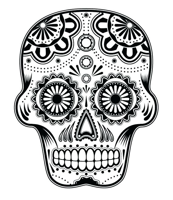 Day Of The Dead Coloring Pages At Getdrawings Com Free For