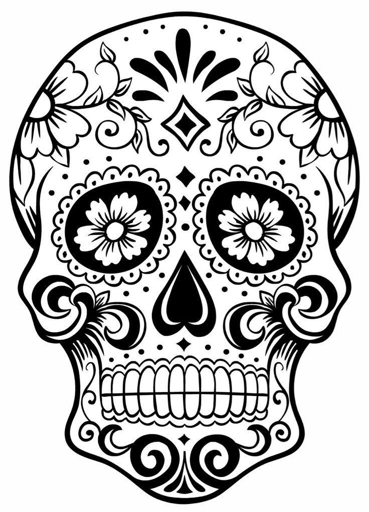 736x1020 Sugar Skulls Coloring Pages Inspirational Sugar Skull Colouring