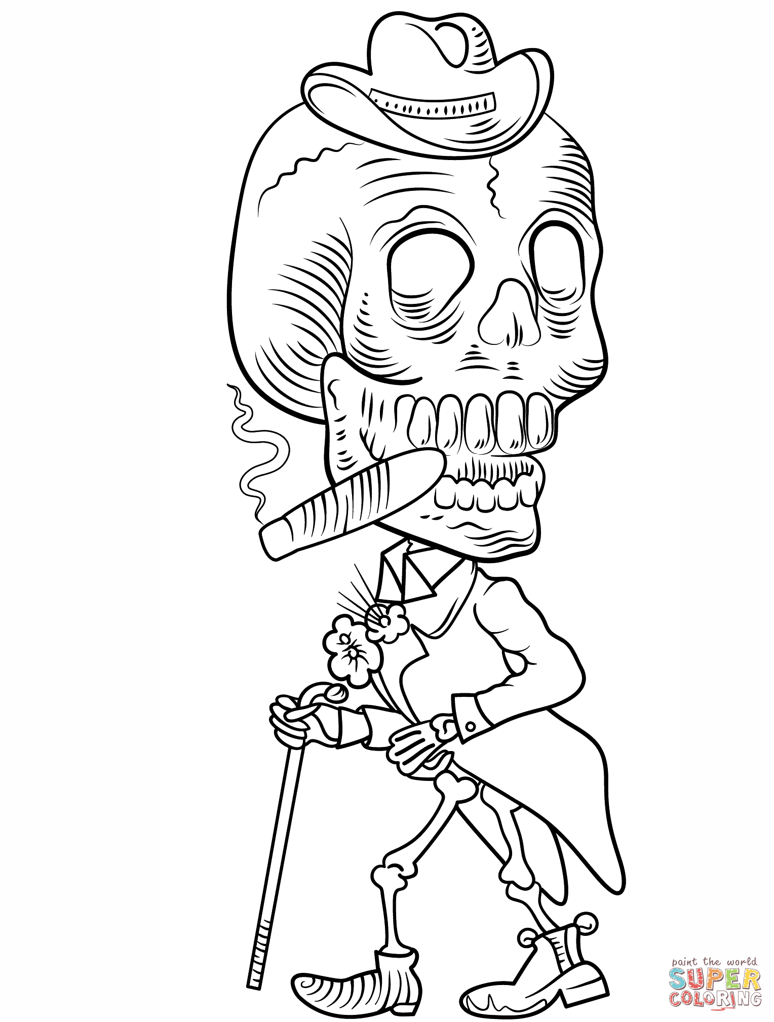 Day Of The Dead Coloring Pages For Adults At Getdrawings