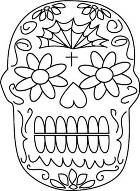 Day Of The Dead Coloring Pages For Kids At Getdrawings Com