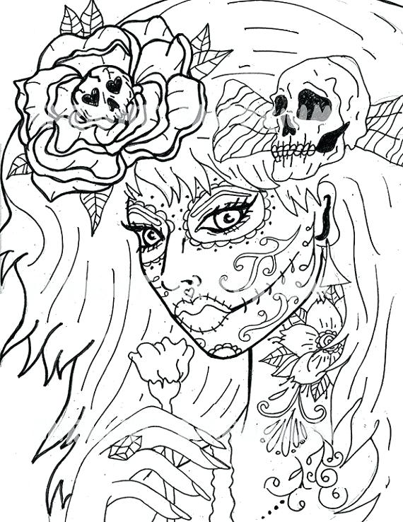 Day Of The Dead Coloring Pages Pdf at GetDrawings.com | Free for ...