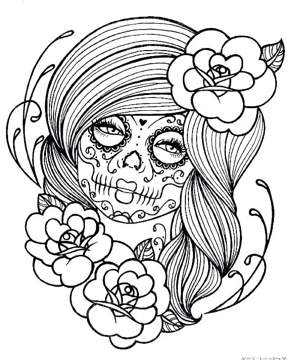 570x712 Day Of The Dead Coloring Pages To Print Day Of The Dead Mask