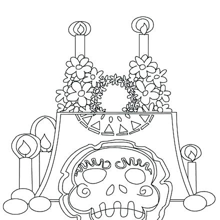 440x440 Day Of The Dead Mask Coloring Page Day Of The Dead Mask Coloring