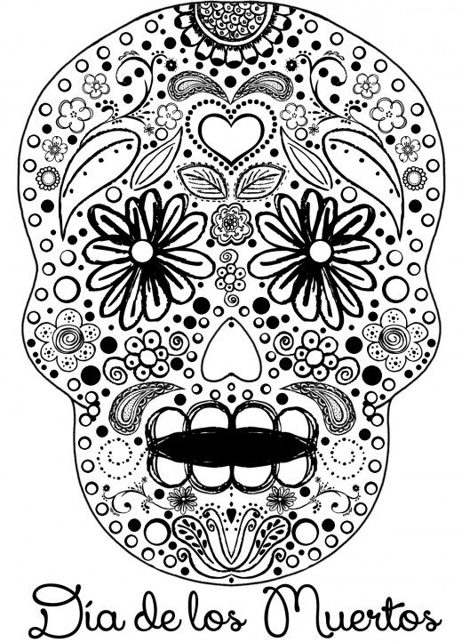 520x722 Celebrate The Day Of The Dead With Scrapbook Paper Arts And Other