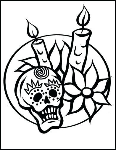 392x506 El Dia De Los Muertos Coloring Pages Skull Coloring Pages Dia De