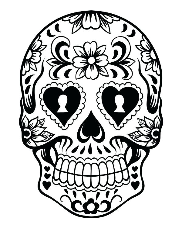 Day Of The Dead Mask Coloring Page At GetDrawings Free Download
