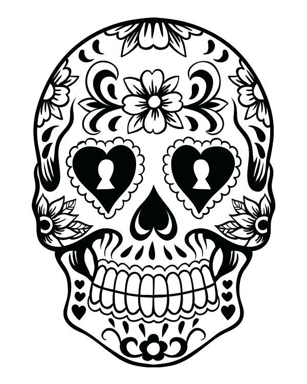 600x750 Coloring Page Pin Drawn Mask Day Of The Ad Sugar Skull Coloring