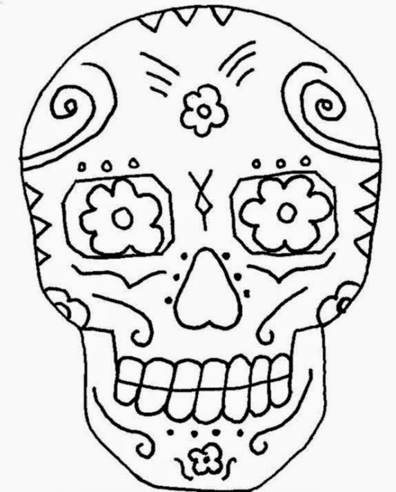 574x713 Mexican Skull Coloring Pages Therapy Coloring Pages For Adults