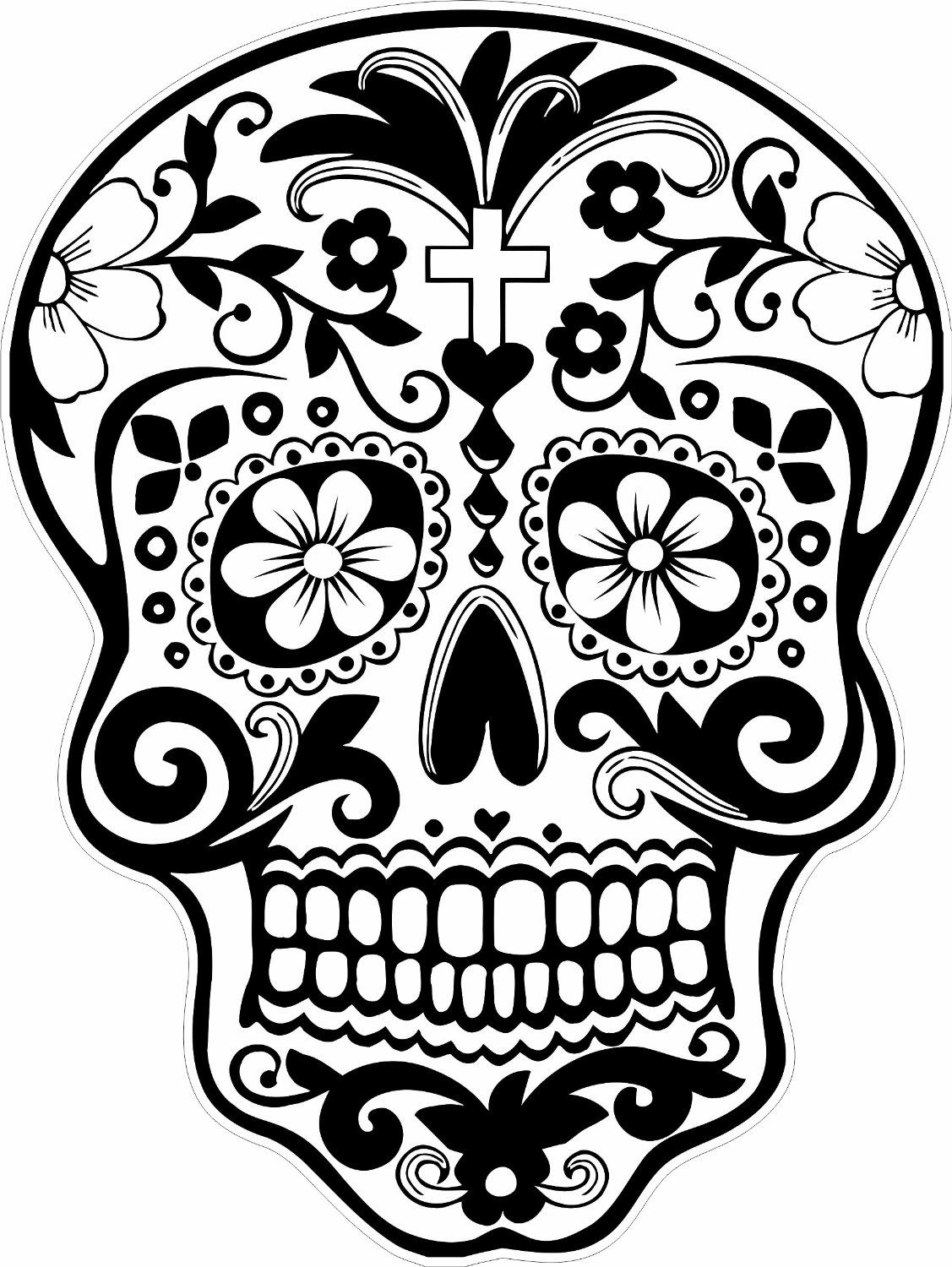 1127x1500 Skull Coloring Pages Day Of The Dead