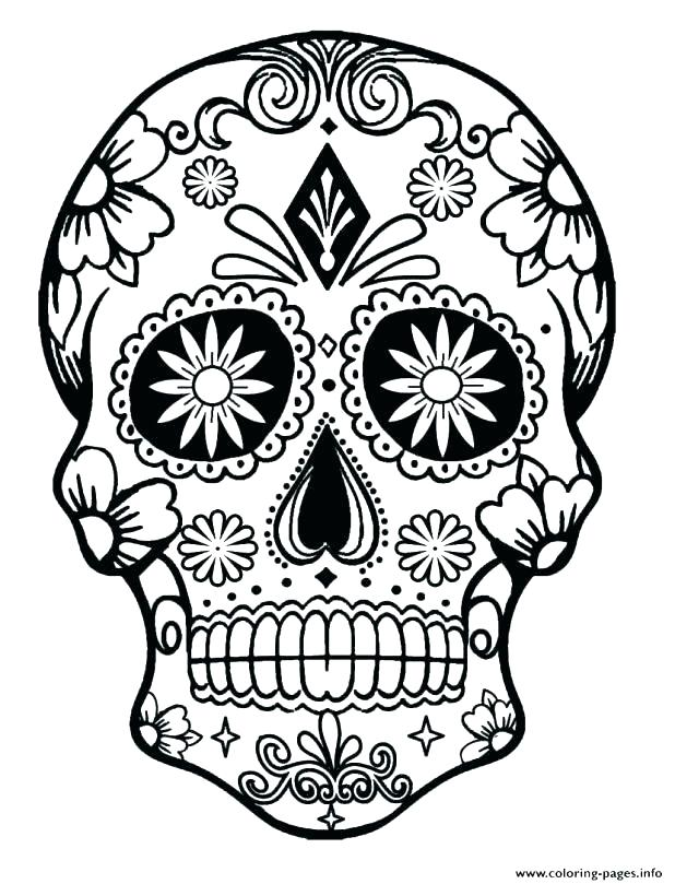 618x809 Coloring Pages Sugar Skulls Skull Coloring Book Day Of The Dead