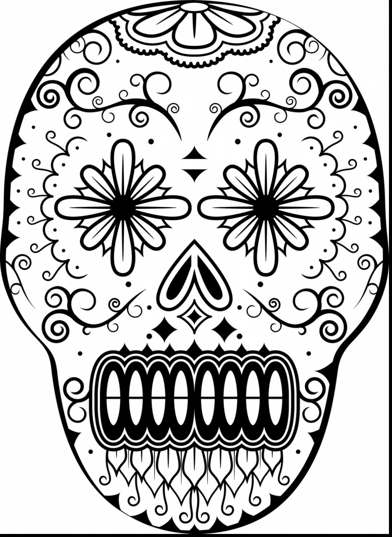 1284x1760 Day Of The Dead Coloring Page Printable Pages Surgar Mesmerizing