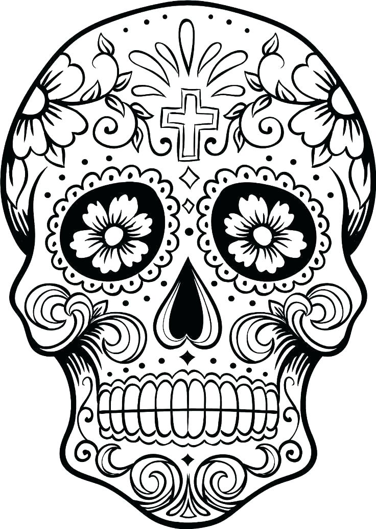 736x1034 Day Of The Dead Coloring Pages Day Of The Dead Mask Coloring Page