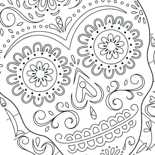 Day Of The Dead Mask Coloring Page At Getdrawings Com Free For