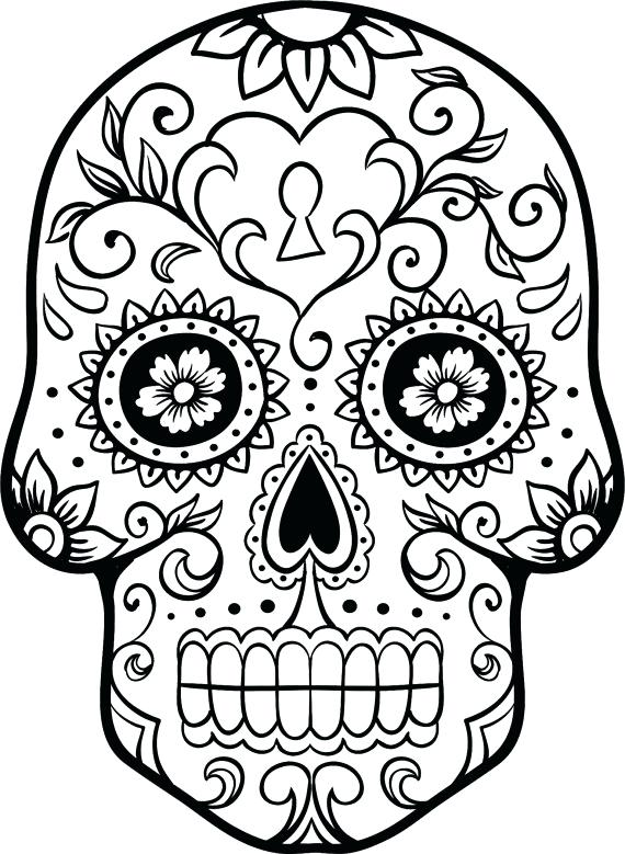 570x779 Free Day Of The Dead Skull Coloring Pages Kids Coloring Coloring