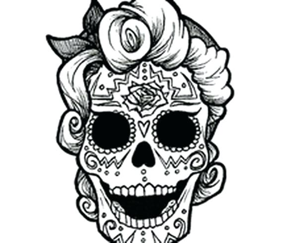 570x490 Day Of The Dead Coloring Pages