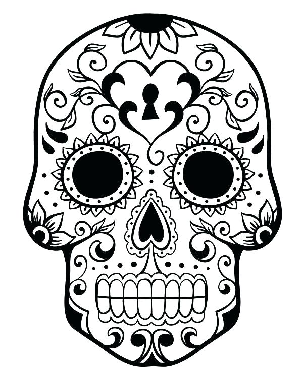 600x750 Day Of The Dead Skeleton Coloring Pages