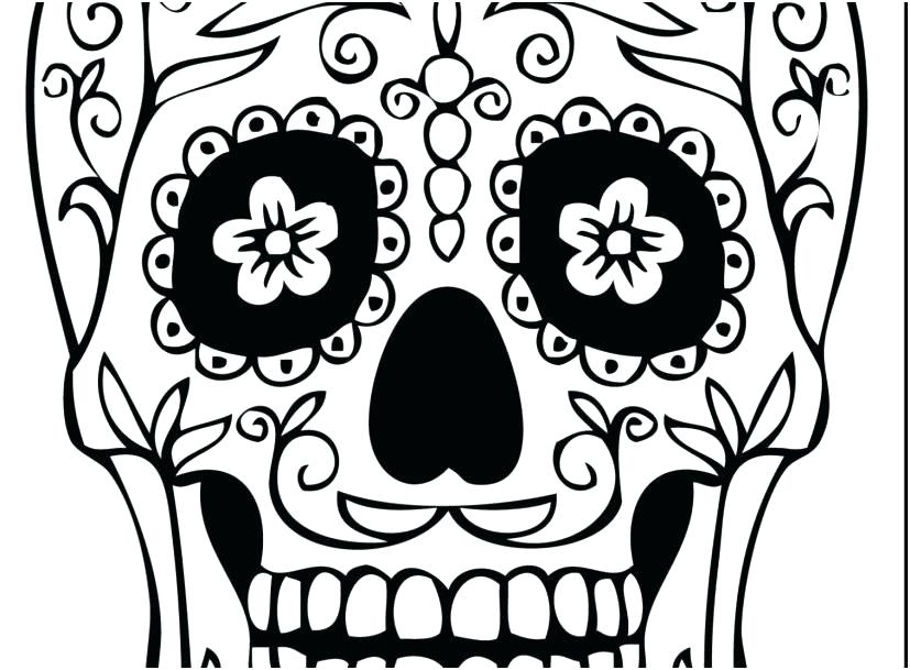 827x609 Dia De Los Muertos Coloring Pages Printable