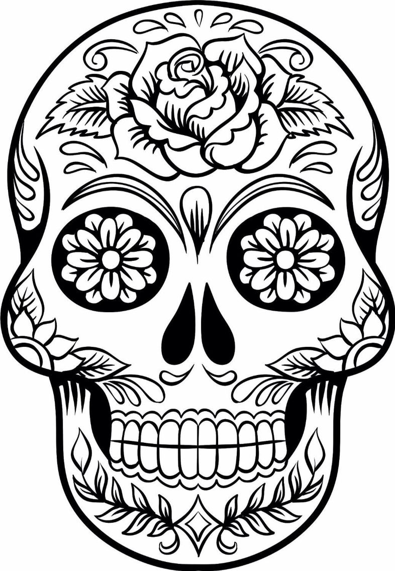 786x1136 Awesome Day The Dead Coloring Pages Free Free Coloring Pages