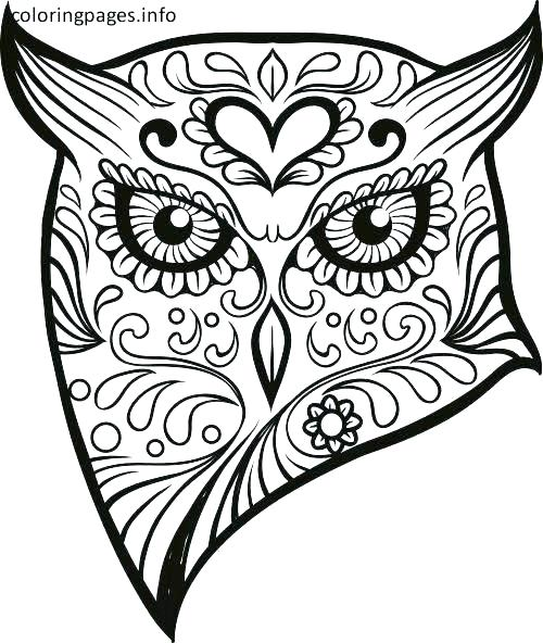 Day Of Dead Skull Coloring Page
