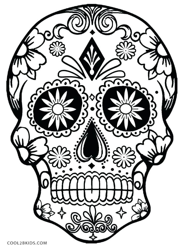 750x1033 El Dia De Los Muertos Coloring Pages Printable Picture Dia De Los