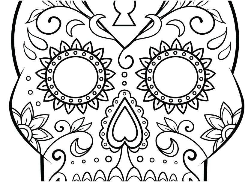 Day Of The Dead Sugar Skull Coloring Pages At GetDrawings Free Download