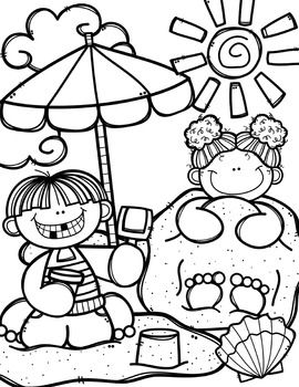 270x350 Free Summer Time Coloring Book {made