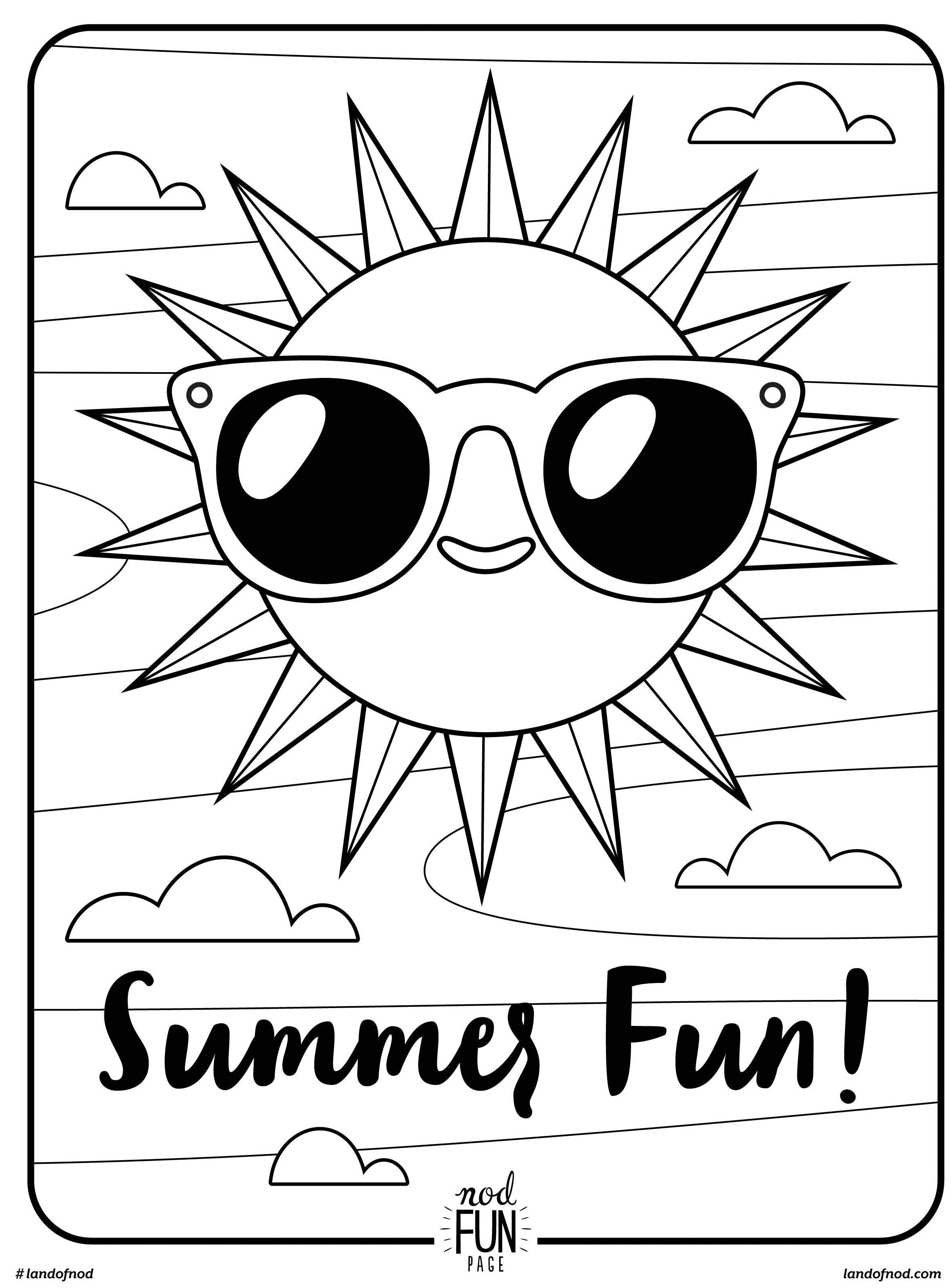 2351x3184 Happy Time In Summer Sea Coloring Page For Kids Seasons Pages