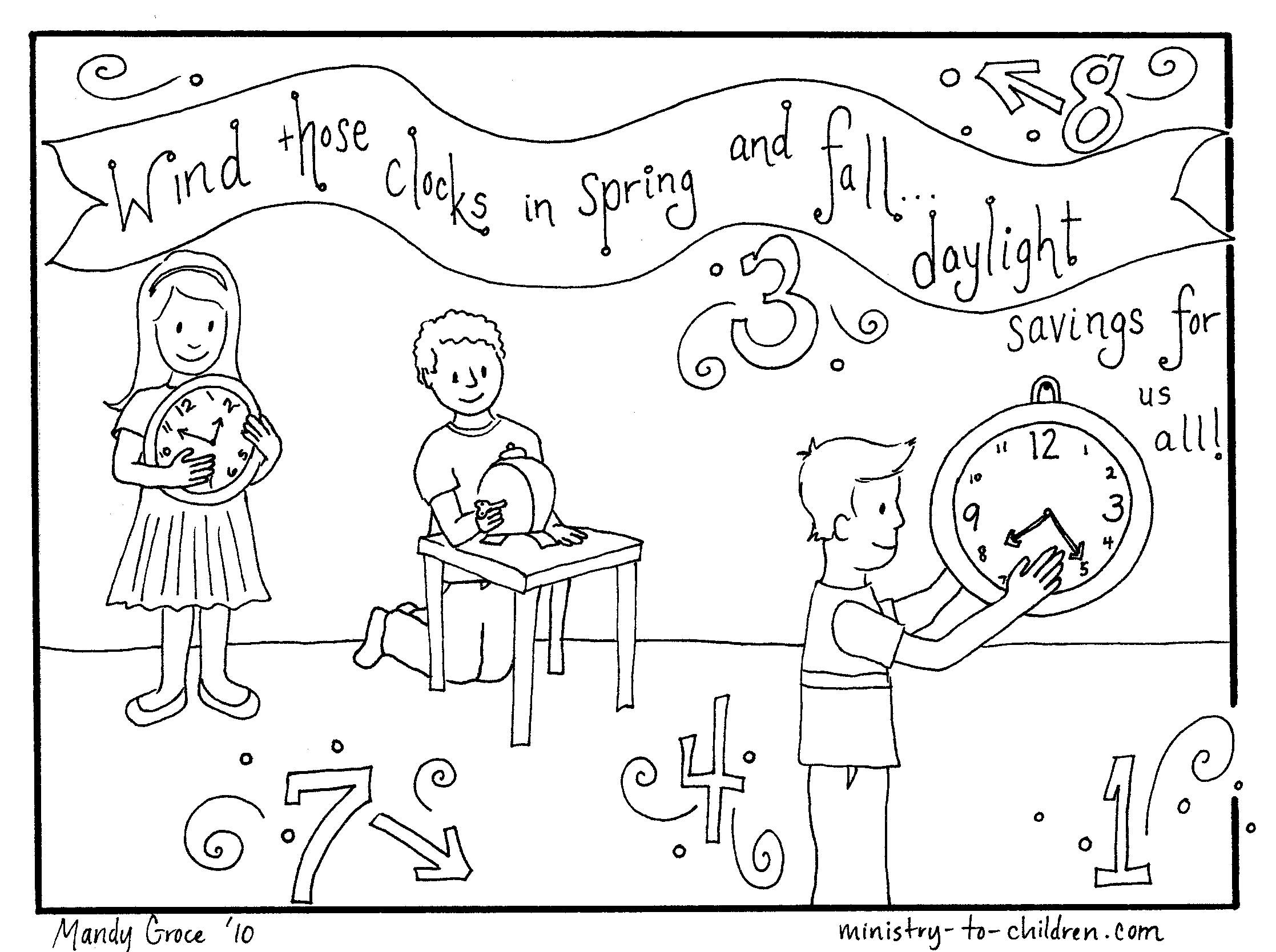 2235x1668 Coloring Page About Daylight Savings Time Httpministry
