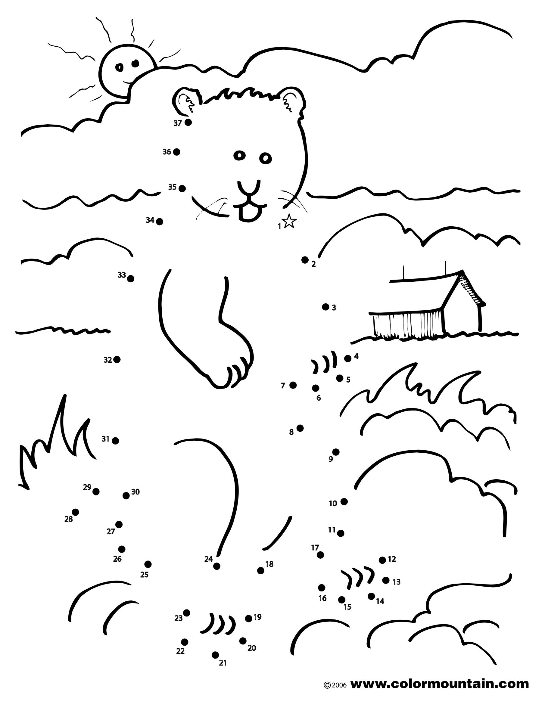 1800x2329 Groundhog Coloring Dot To Dot Coloring Page Happy Groundhog Day