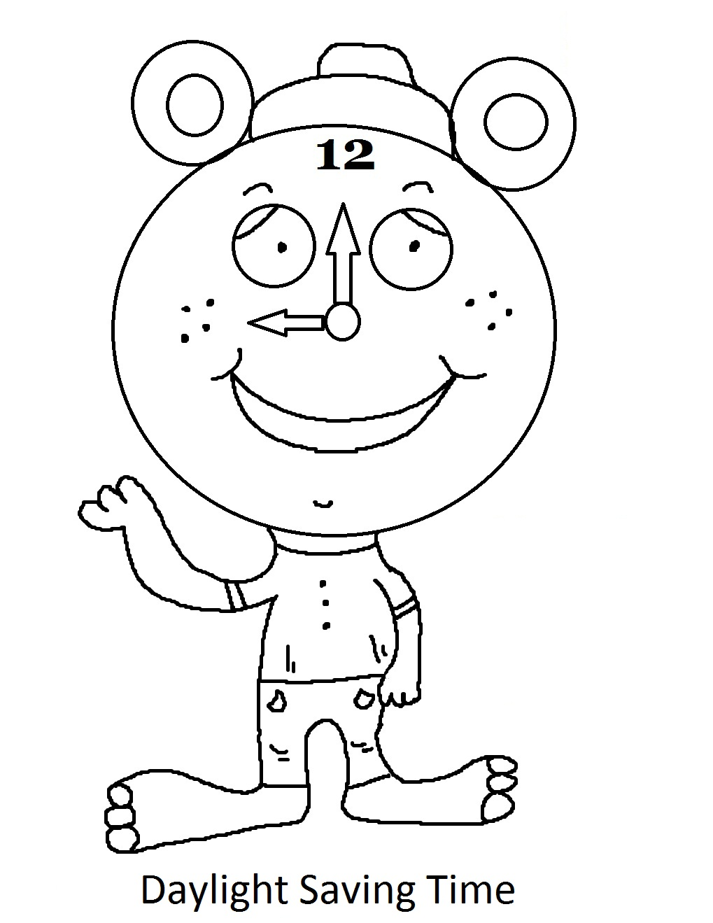 1019x1319 Daylight Savings Time Clock Coloring Page Free Coloring Pages