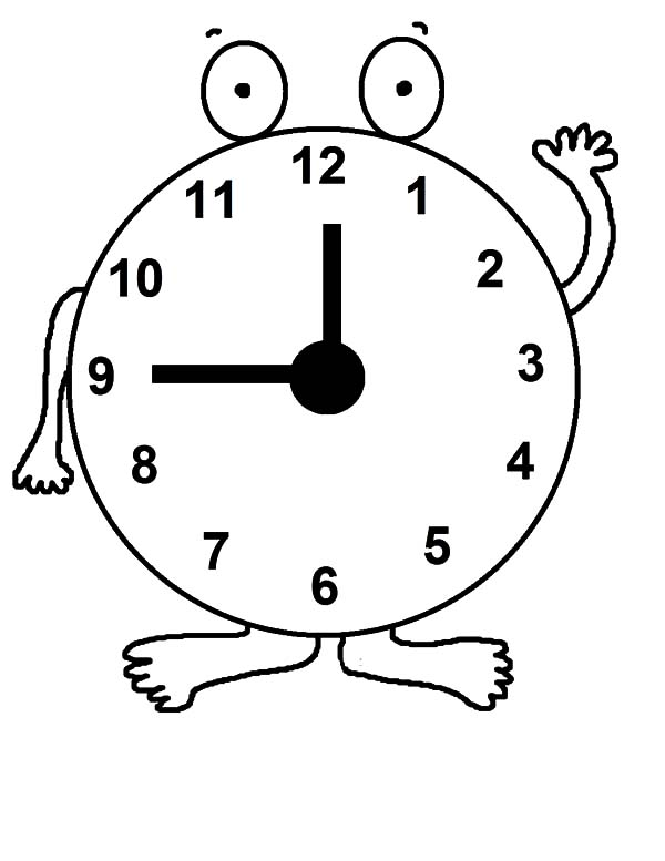 600x777 Daylight Savings Time Clock Coloring Pages Best Place To Color