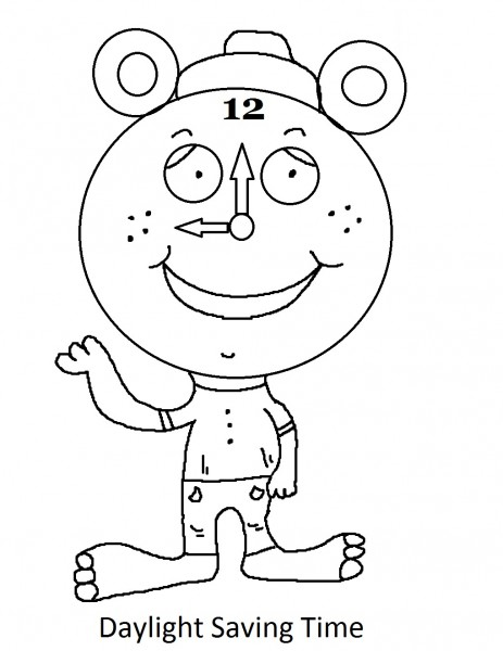 463x600 Daylight Savings Time Coloring Pages