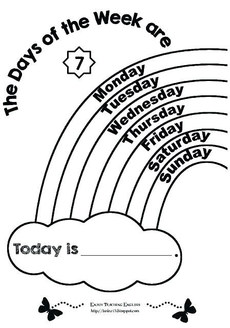 449x640 Days Of The Week Coloring Page From Seasonal Days Of The Week