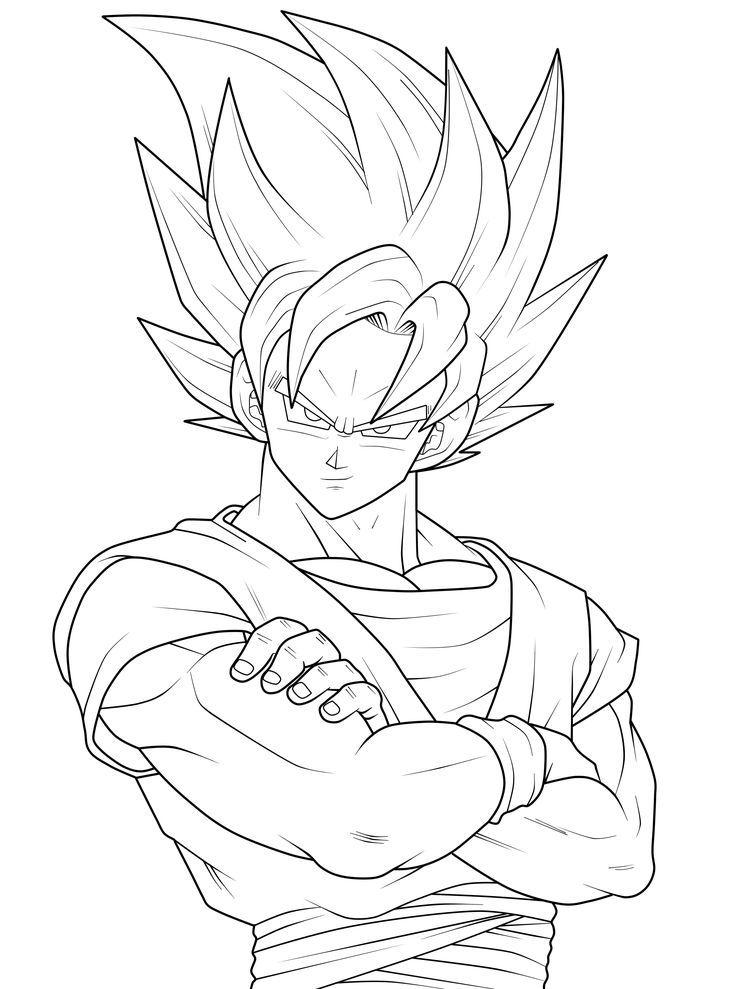 736x989 Print Goku Goku Coloring Pages Goku Coloring Pages