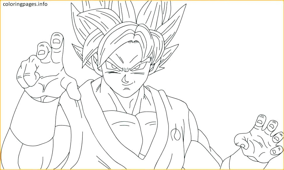 Dbz Coloring Pages Goku At Getdrawings Free Download