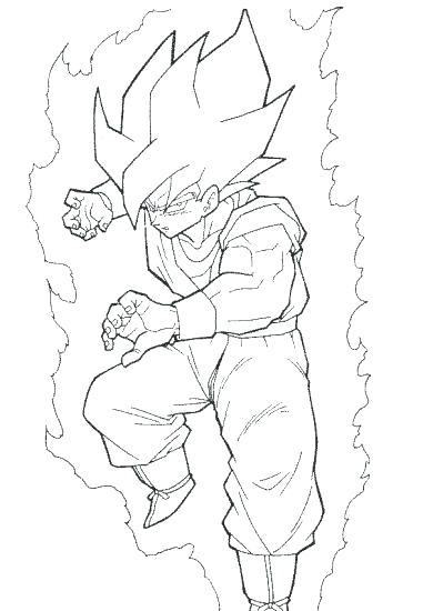 Sailor Broly coloring page | Free Printable Coloring Pages | 550x381