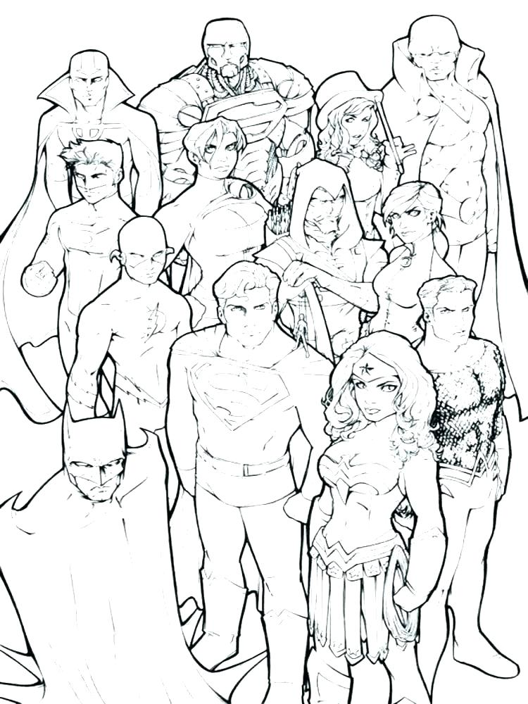 750x1000 Dc Comic Justice League Coloring Page Dc Comic Coloring Pages Dc