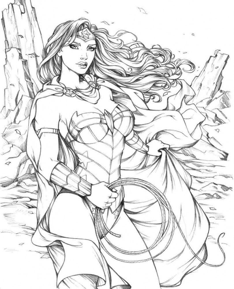 811x1001 Dc Superhero Girls Coloring Pages Wonder Woman