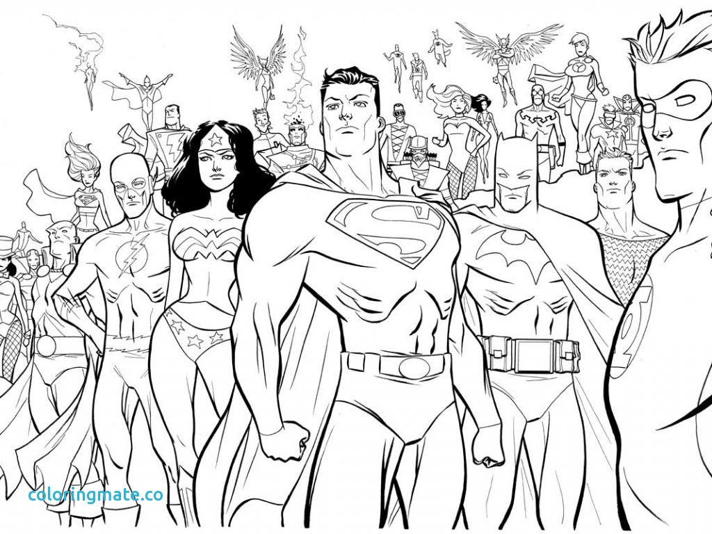 1024x768 Comics Flash Coloring Pages Within Dc