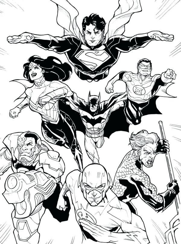 600x809 Dc Comic Coloring Pages Dc Comic Justice League Coloring Page Dc