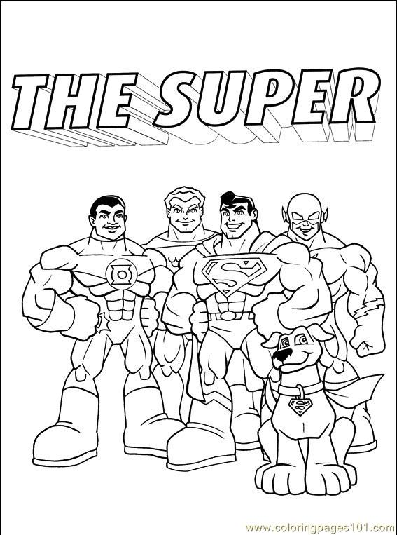 567x763 Dc Comics Printable Coloring Page For Kids And Adults