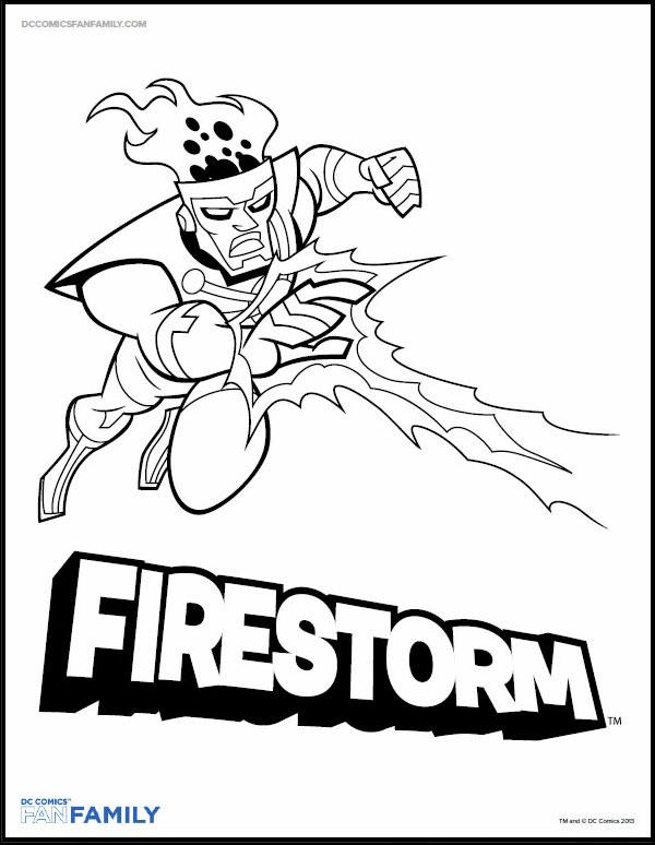 600x774 Firestorm Coloring Page On Firestorm Fan
