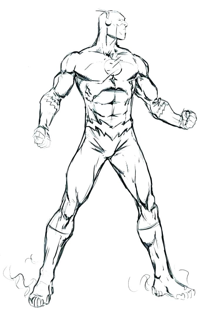 705x1080 Flash Coloring Pages Dc Superhero Coloring Pages Super Hero
